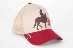 Boné - Cavalo de Marcha - Dourado c/ Vermelho