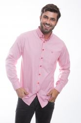 Camisa social Mangalarga chancela - Rosa