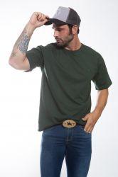Camiseta básica Masculina - Verde escura