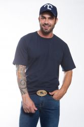 Camiseta básica Masculina - Azul marinho