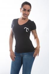 Camiseta Mangalarga Amor de verdade Baby Look - Preta