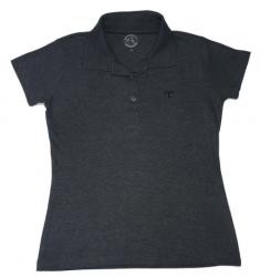 Camisa polo Feminina - Cinza grafite