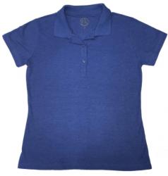 Camisa polo Feminina - Azul escuro