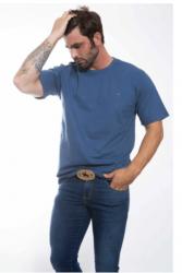 Camiseta básica Masculina - Azul claro