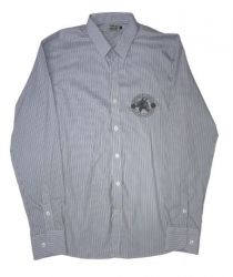 Camisa Top Premium Masculina listrada - Cinza e azul
