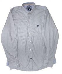 Camisa social quadriculada Masculina - Azul