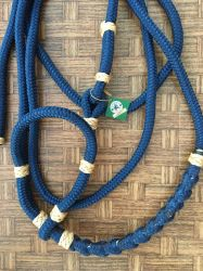 Traia Mangalarga Haddad - Cabresto de apresentação - Azul Marinho