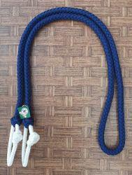 Traia Mangalarga Haddad - Rédea Fechada de cordinha - Azul e Branco