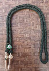 Traia Mangalarga Haddad - Rédea Fechada de cordinha - Verde com Champanhe