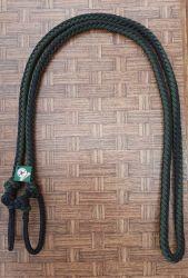 Traia Mangalarga Haddad - Rédea Fechada de cordinha - Preto trançado com Verde