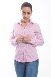 Camisa social Feminina listrada ml