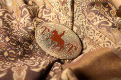 Fivela Mangalarga Cavalo - Dourado com marrom